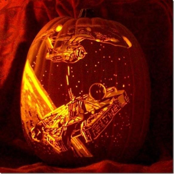 scifi pumpkin star trek wars