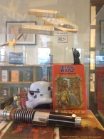 Front view of Vader. The Wookie stortbook belongs to my wife which she kept all these years. Below in my lightsaber. There is a Jedi in red armor from the comics when Dark Horse had the rights but I've forgotten his name. Any ideas?
